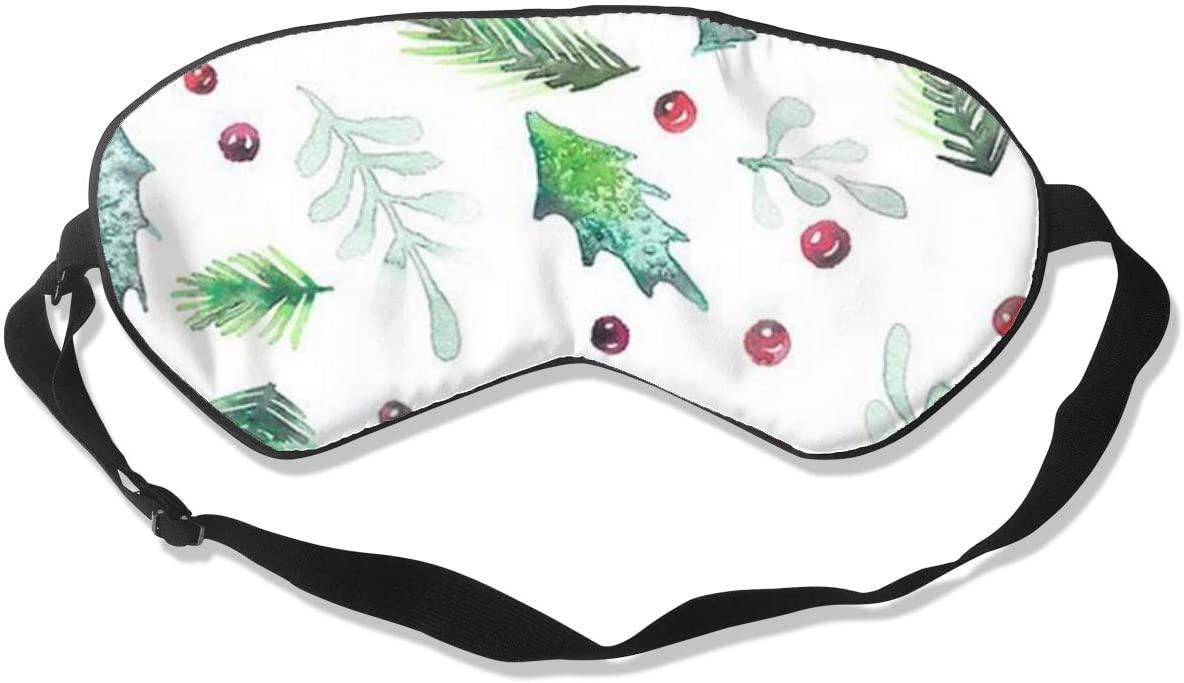 Pine Needles, Holly Berries Women Men Eye Shade Cover for Sleeping,Eye Mask for Night Sleep