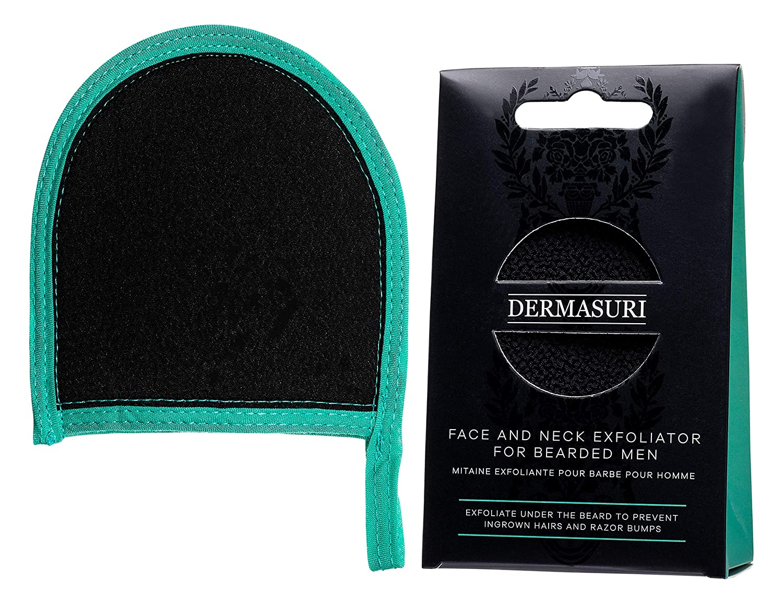 Dermasuri Face and Neck Exfoliator for Bearded Men