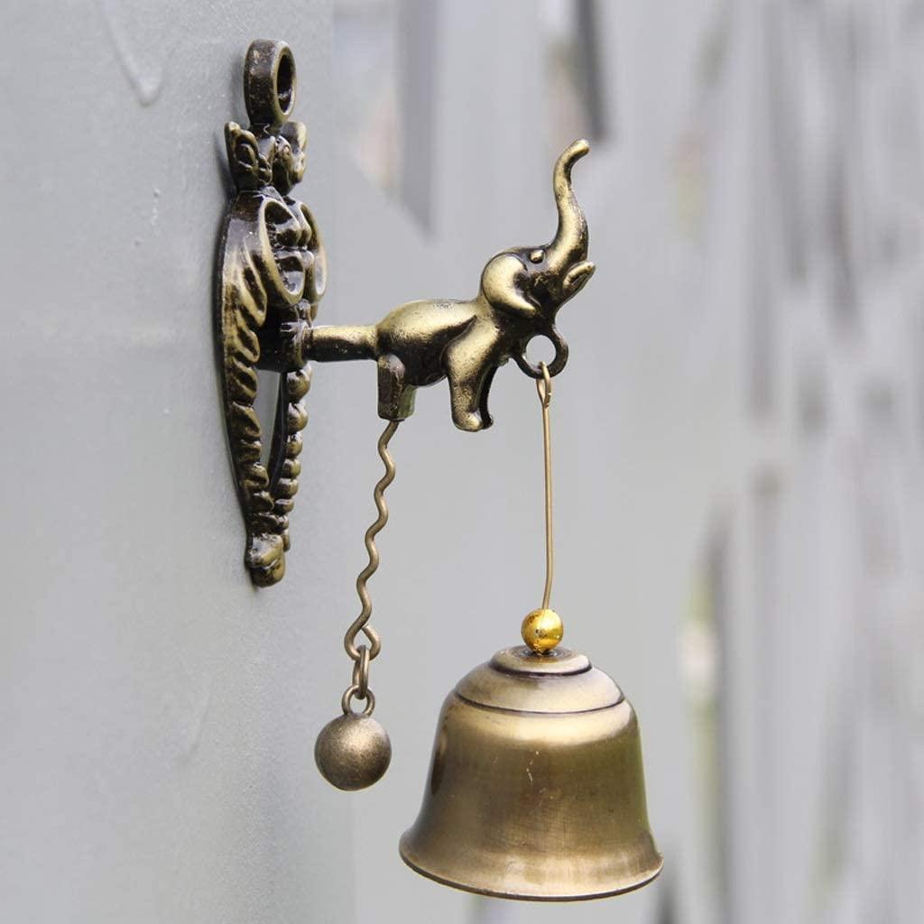 Retro Shop Doorbell Wind Chime Home Elephant Wall Decoration Doorbell Decoration 11x4cm/3.5x3cm Cast Iron doorbell