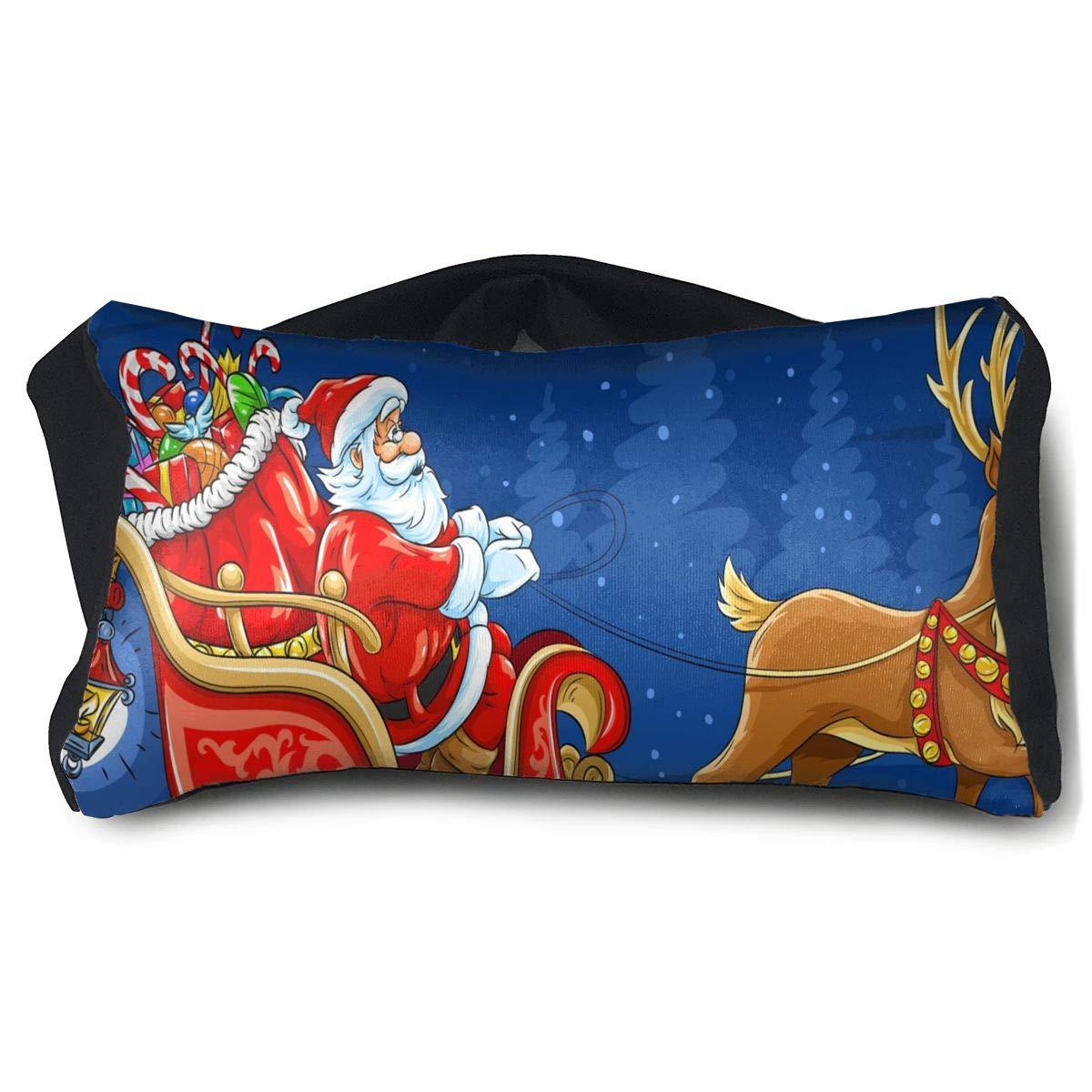 Eye Pillow Santa Sleigh Christmas Holiday Deer Special Mens Portable Blindfold Train Sleep Eye Bag Bed