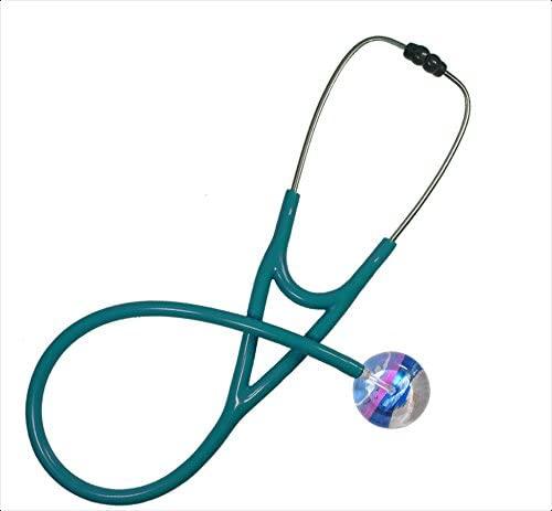 Ultrascope Adult Stethoscope with Teal Tubing, Beach Scene