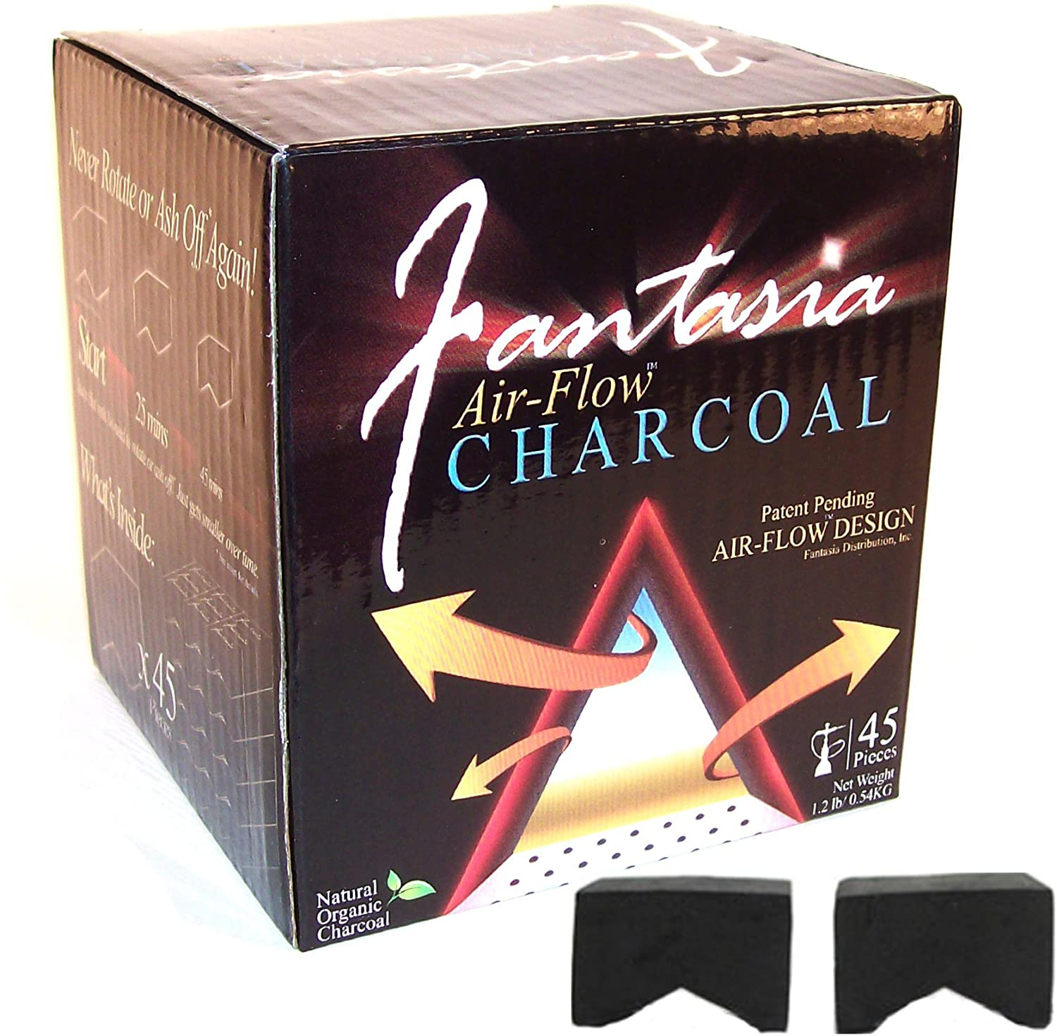 Fantasia Air-Flow Hookah Charcoal Natural Hookah Charcoal 45 PC