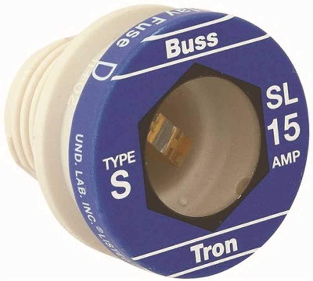 Cooper Bussmann SL-15 125-Volt 15 Amp TYPE SL Time Delay Tamper Proof Fuse Pack of 4