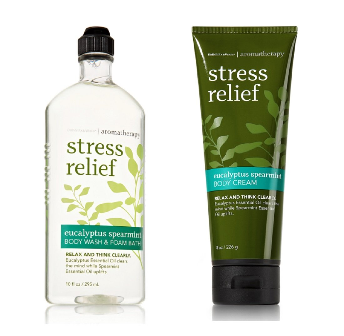 Bath and Bodyworks Stress Relief Eucalyptus Spearmint Gift Set