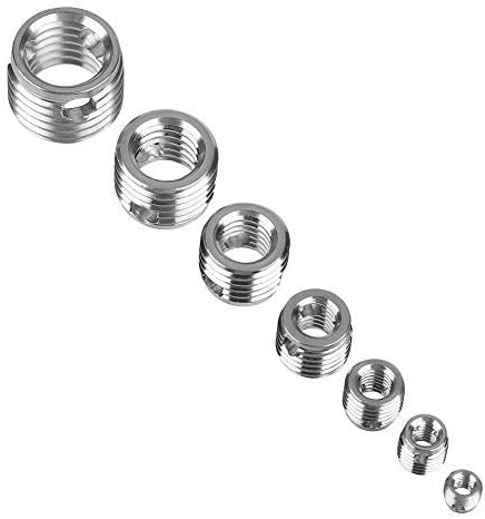 58pcs stainless steel self-tapping screw thread repair sleeve assortment kit with plastic case
