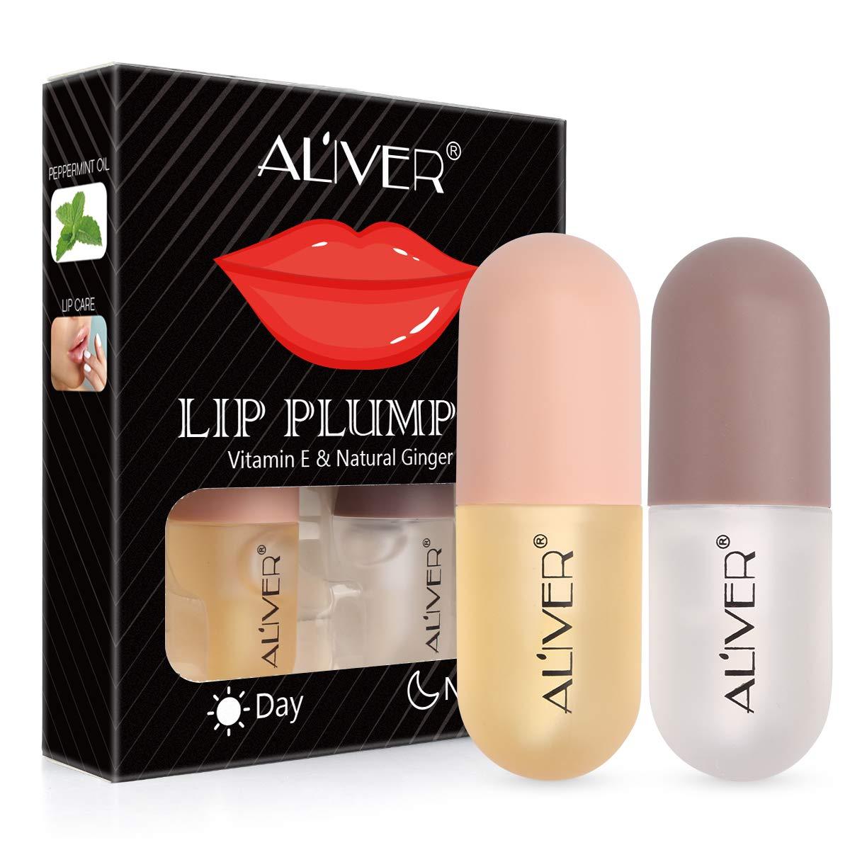 Lip Plumper Set, Natural Lip Plumper and Lip Care Serum, Lip Enhancer, Lip Plumping Balm, Moisturizing Clear Lip Gloss for Fuller Lips & Hydrated Beauty Lips