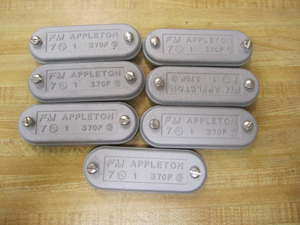 Appleton 370F Conduit Body Blank Cover Pack of 7