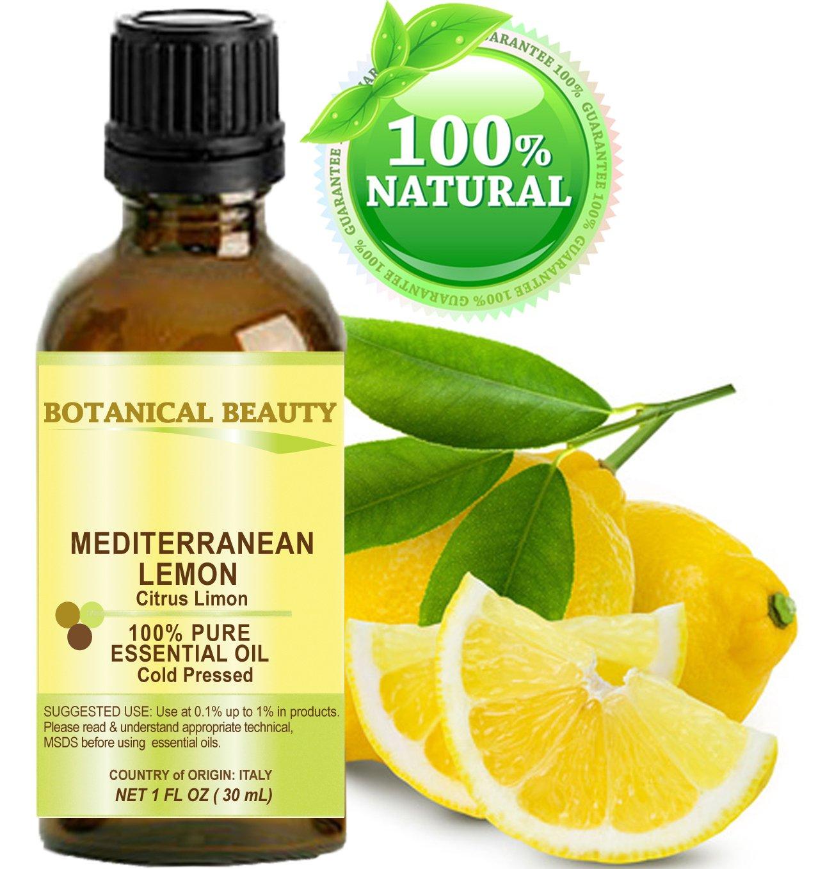 LEMON (Mediterranean) ESSENTIAL OIL. 100% Pure Therapeutic Grade, Premium Quality, Undiluted. 1 Fl.oz.- 30 ml.