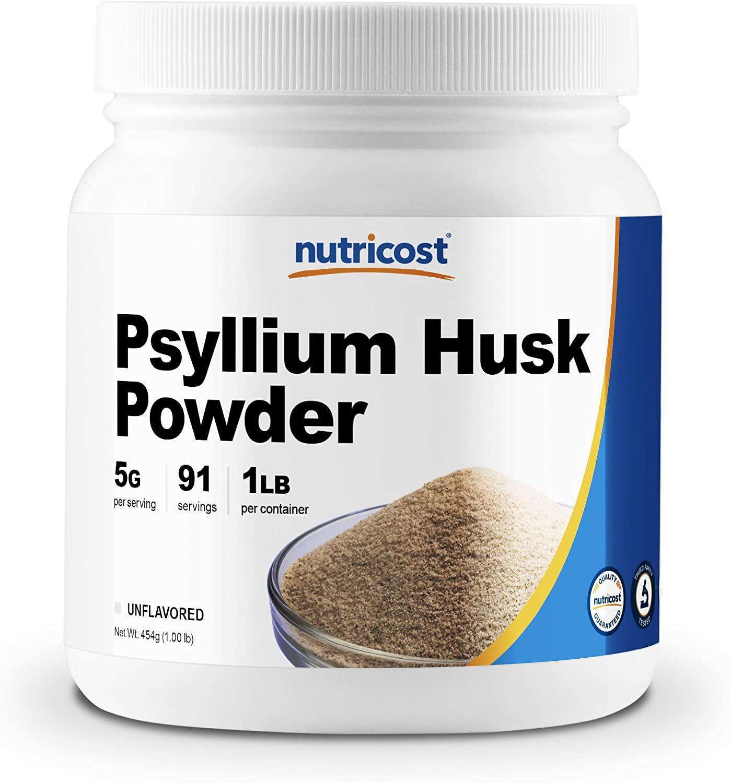 Nutricost Psyllium Husk Ground Powder (1lbs) - Gluten Free and Non-GMO