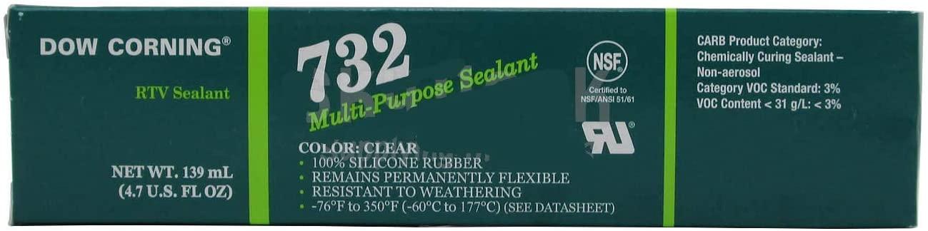 Dow Corning 732 Clear Multi-Purpose Silicone Sealant - 139 mL Tube