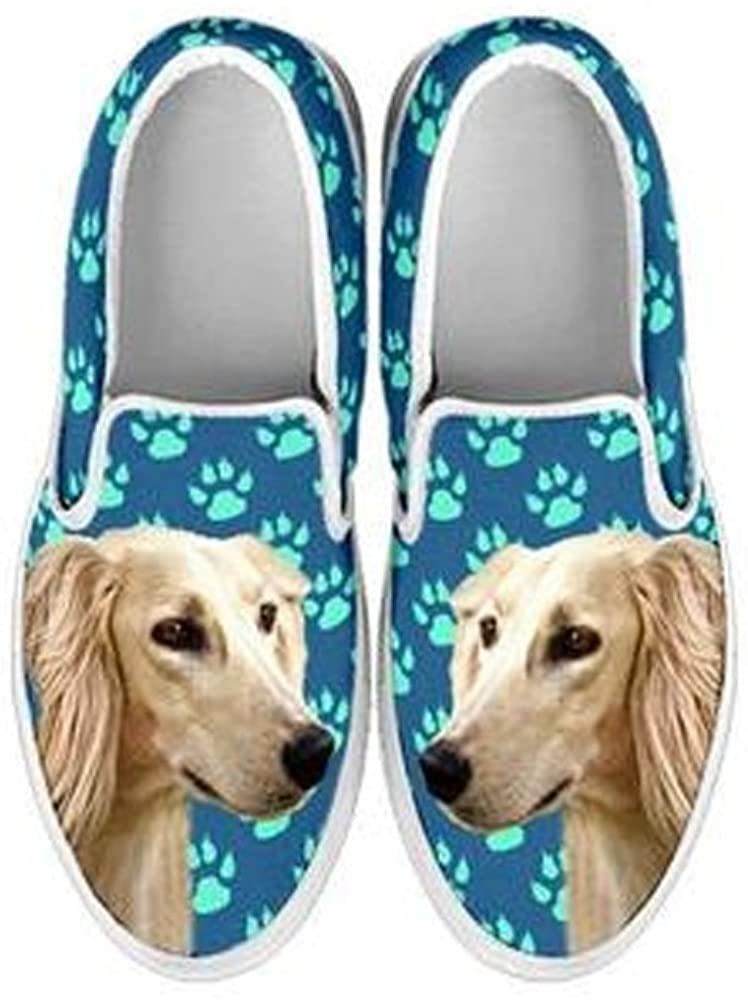 Saluki Dog Print Slip Ons Shoes for Women
