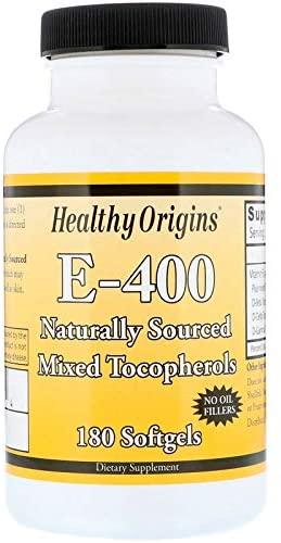 HEALTHY ORIGINS Vitamin E,400IU, 180 SGEL