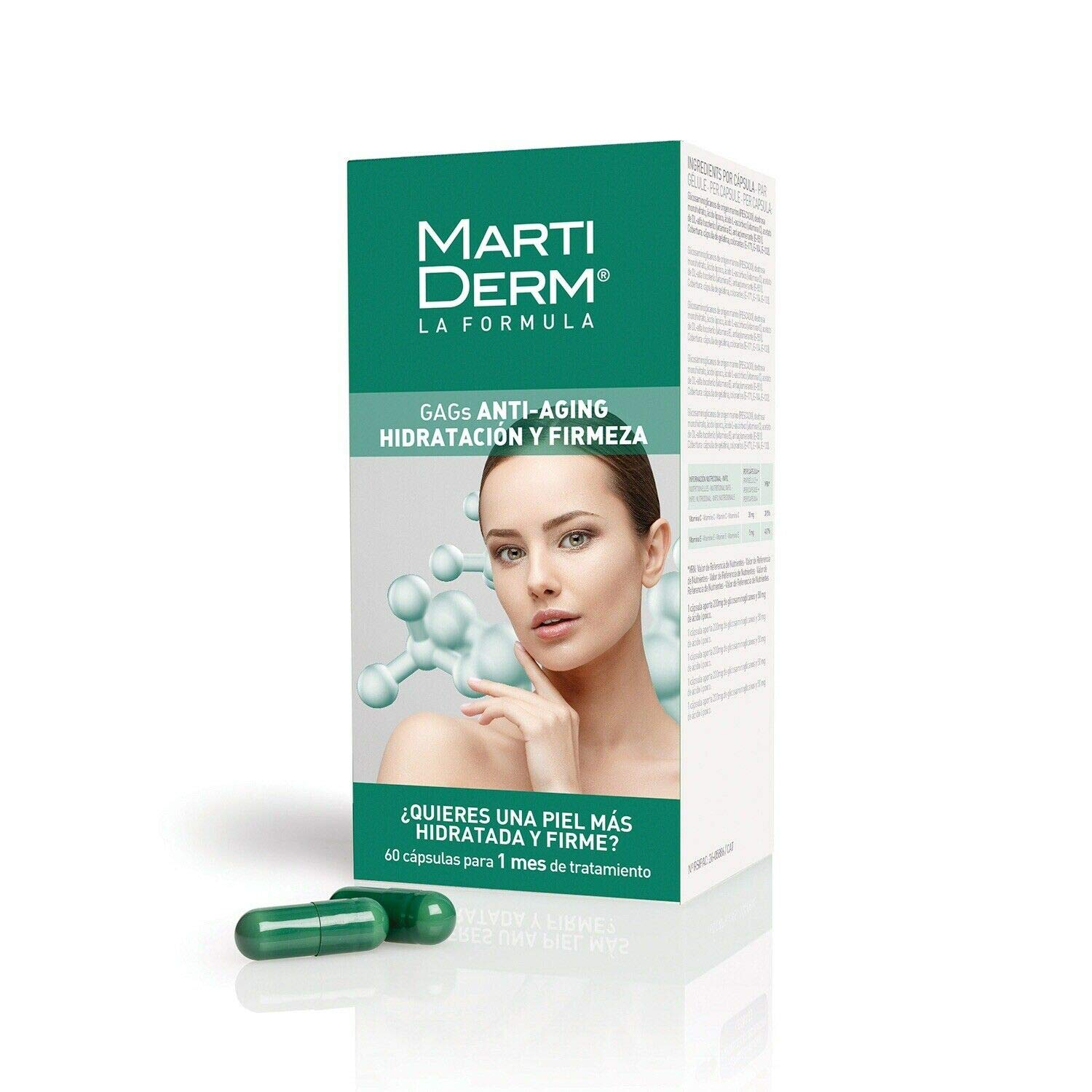 Martiderm GAGs 60 Capsules. Anti-Aging. Marine glycosaminoglycans Treatment Skincare Products