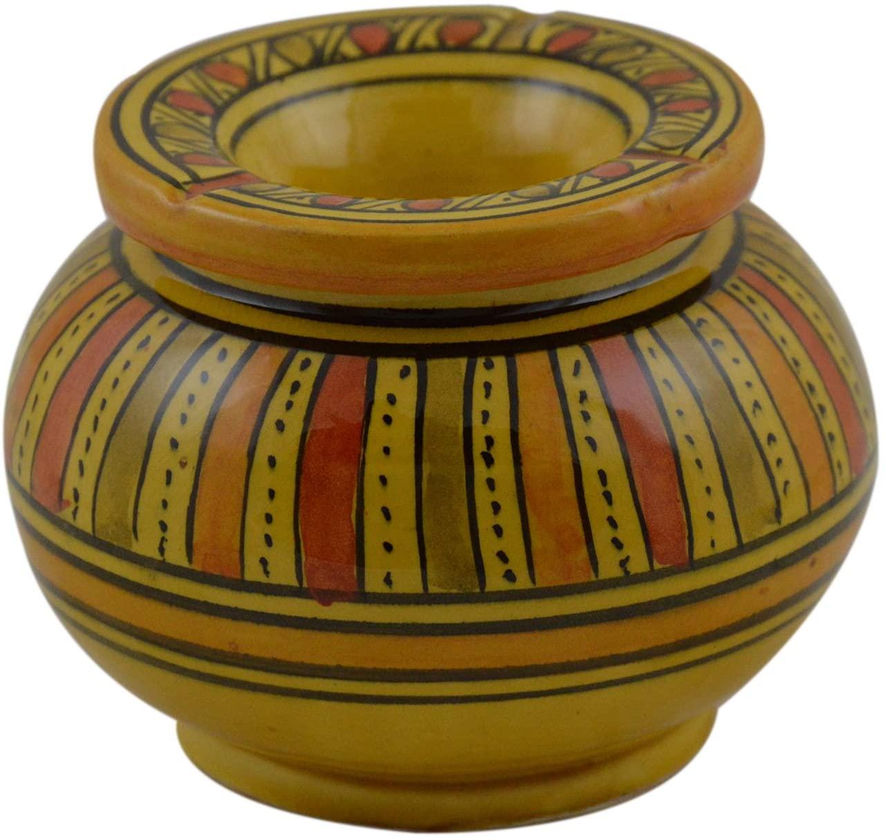 Ceramic Ashtrays Hand Made Moroccan smokeless Ceramic Vivid Colors Small