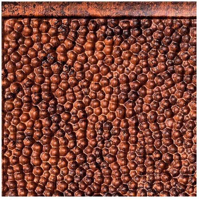 FASÄDE Hammered Decorative Vinyl Backsplash Panel in Moonstone Copper (6X6 Inch Sample)