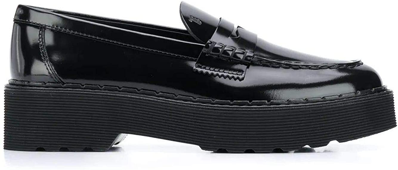 Tod's Luxury Fashion Woman XXW80C0DF30MRKB999 Black Leather Loafers | Fall Winter 20