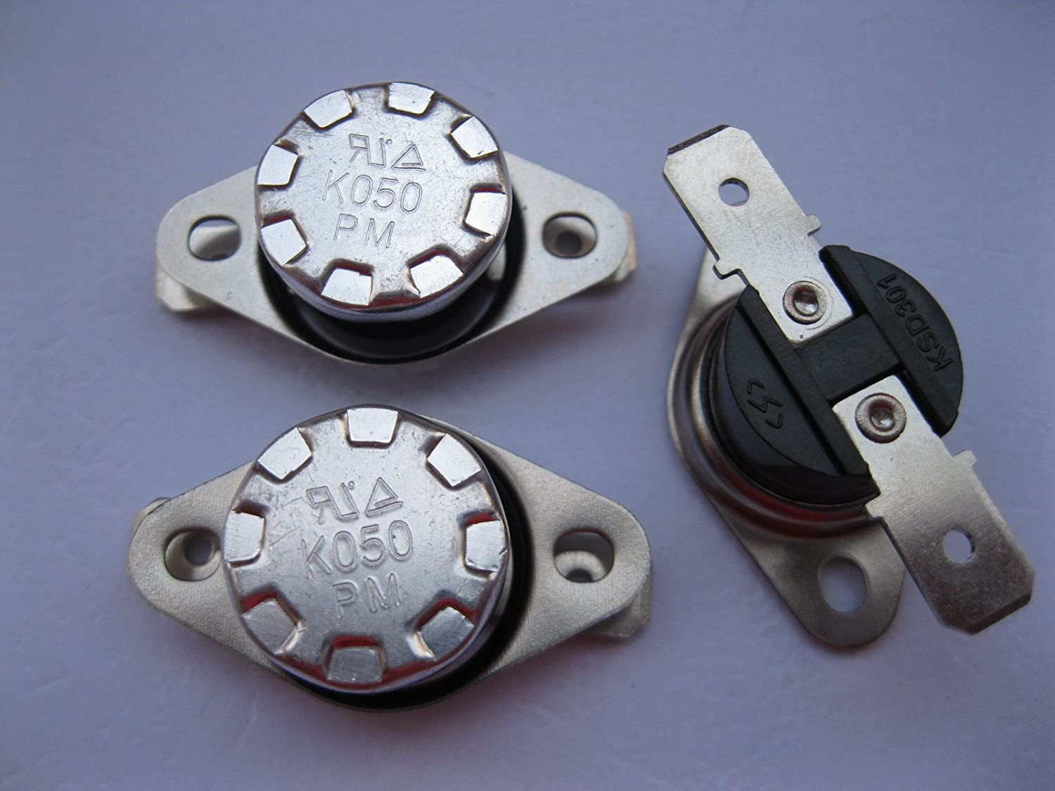 5 pcs 50 Celsius Temperature Switch Thermostat 50°C N.O. Normal Open KSD301