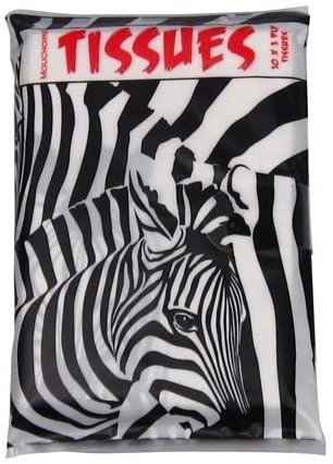 Printed Pocket Tissues Zebra