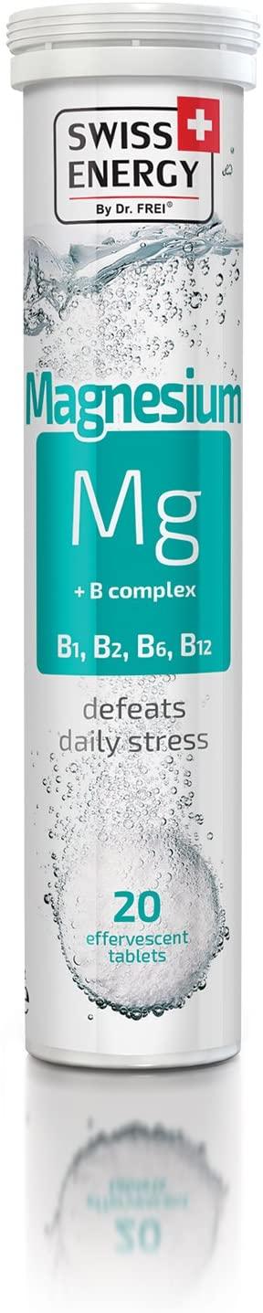 Swiss Energy Magnesium + B Complex Effervescent (20 Tablets)