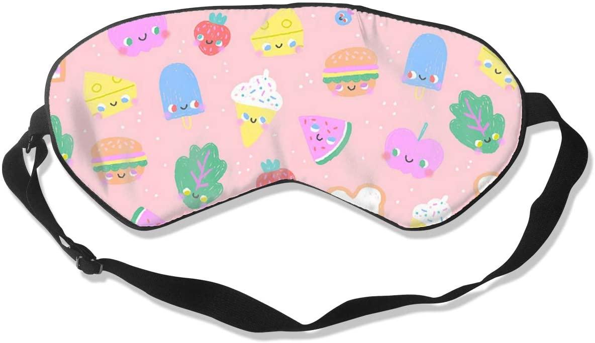 Cute Foodies Women Men Eye Shade Cover for Sleeping,Eye Mask for Night Sleep