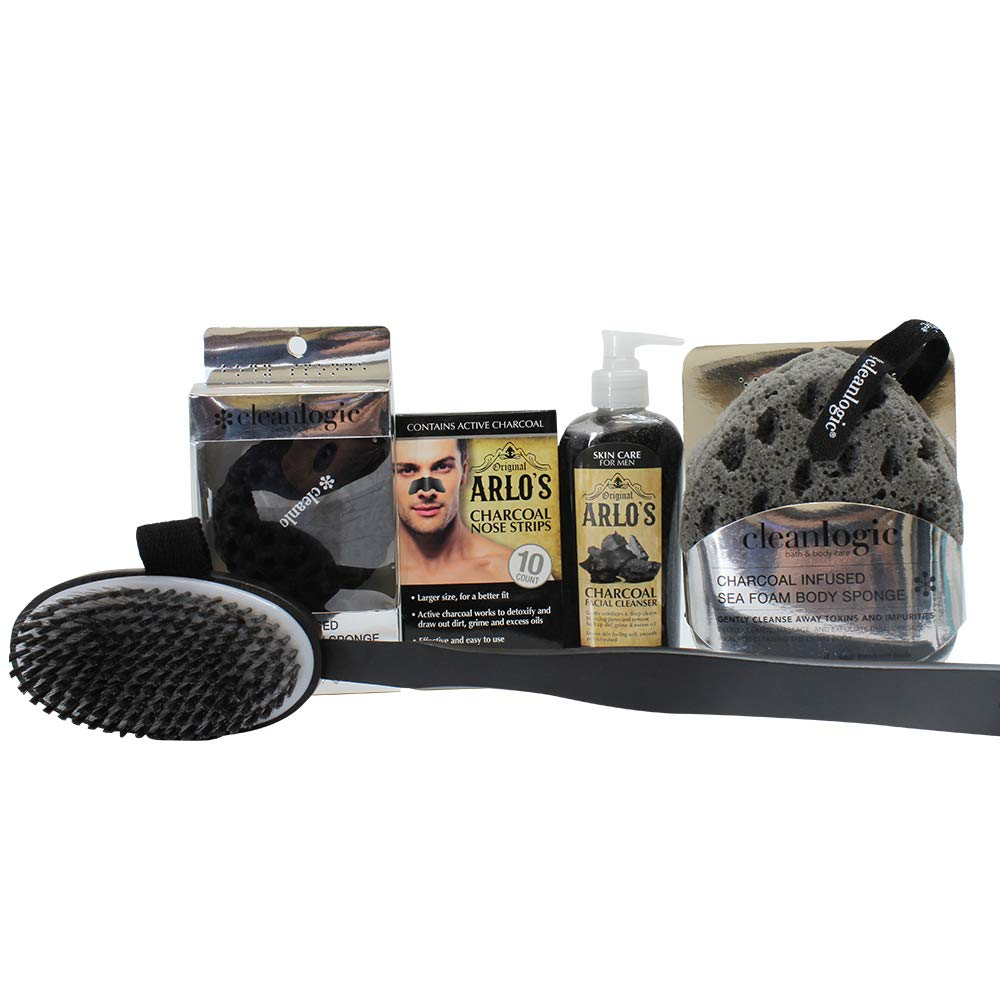 Arlos Mens Detoxifying Charcoal Grooming Collection 5-Piece Set