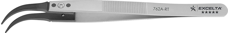 Excelta - 762A-RT - Tweezers - Replaceable Tip - Curved Tip - Five Star - Peek Tips, 0.0655