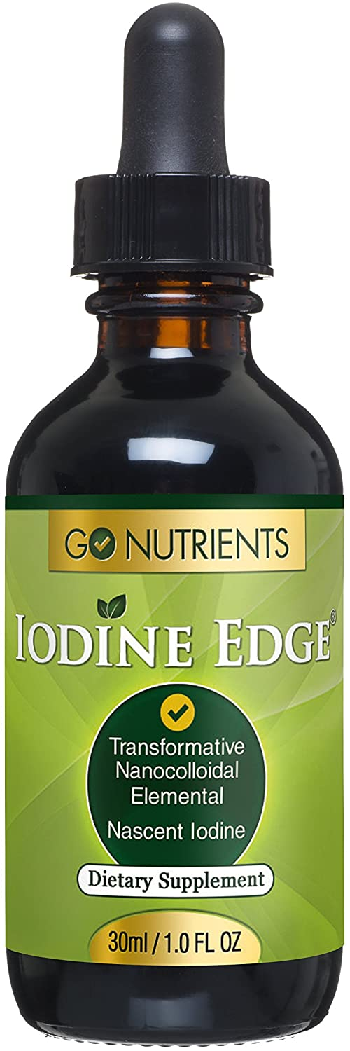 Nascent Iodine Supplement - High Potency Liquid Drops for Thyroid Support to Improve Energy & More - Iodine Edge -30 ml (1.0 fl oz)