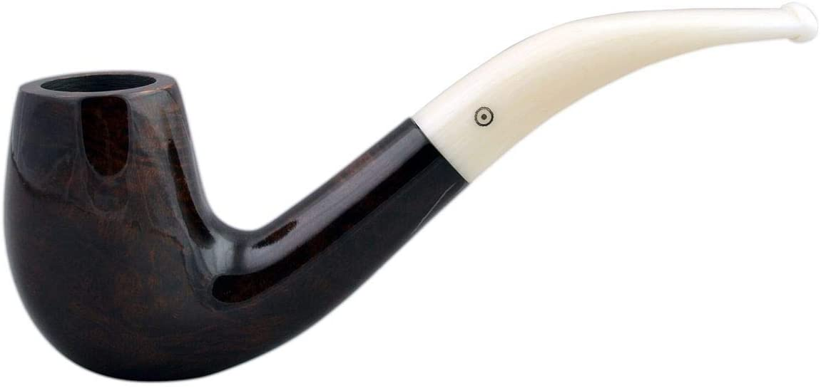 Walrus TUSK #111 Briar Bent Billiard Smooth Brown Tobacco Smoking Pipe