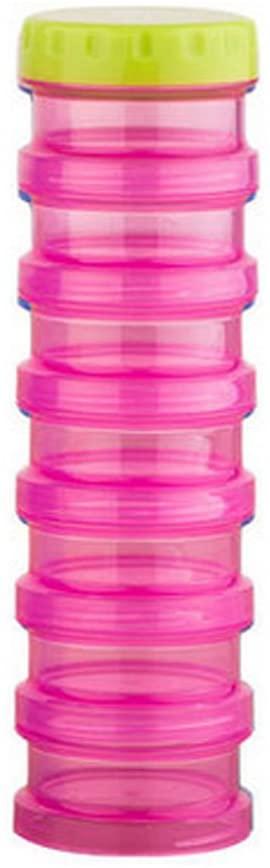 Kylin Express 7-Day Pill Stackable Reminder Box Organizer Medicine Storage Container, Pink