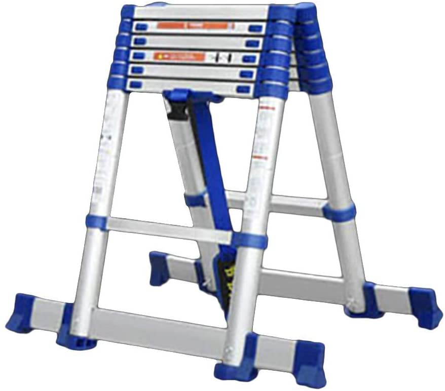 LADDERS Ladder Telescopic Ladders,8.7Ft Foldable Telescopic Extension Ladders for Engineering, Portable Heavy Duty Multi Purpose Professional Ladder, 330Lbs Load