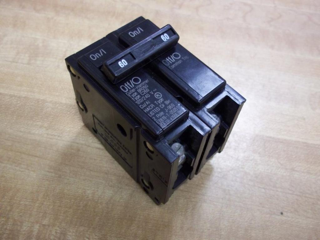 Cutler-Hammer BR260 Circuit Breaker, 60A, 120/240V
