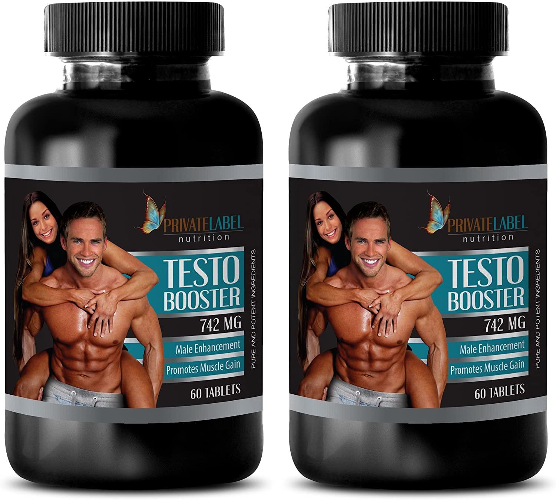 Bodybuilding Supplements for Men Testosterone - Testosterone Booster 742 - Testosterone Booster for Men All Natural - 2 Bottles 120 Tablets