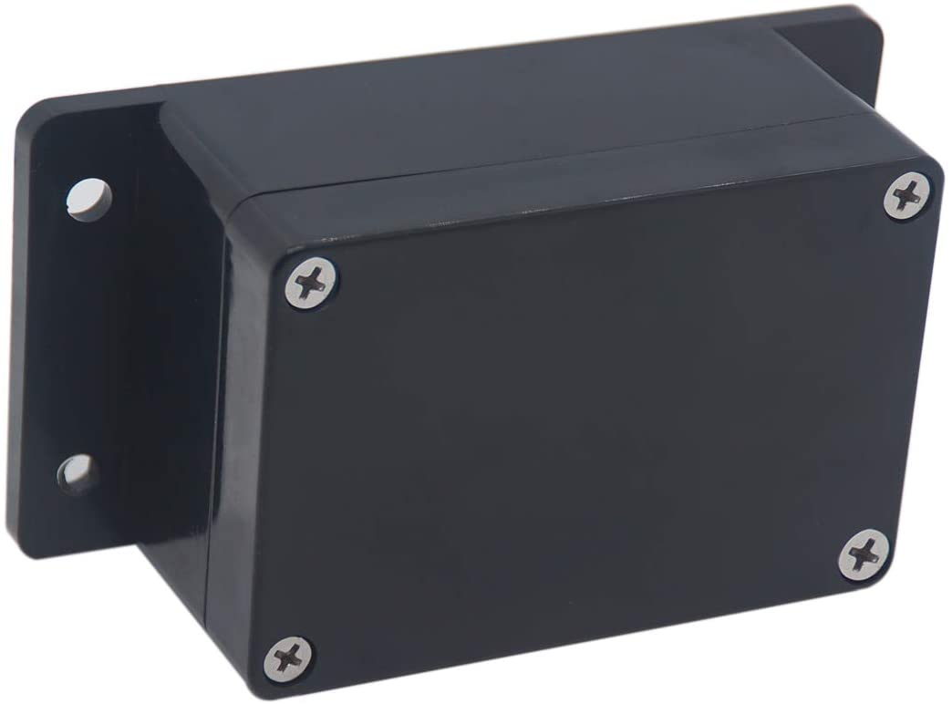 Raculety Project Box IP65 Waterproof Junction Box ABS Plastic Black Electrical Boxes DIY Electronic Project Case Power Enclosure with Fixed Ear 3.94 x 2.68 x 1.97 inch (100 x 68 x50 mm)