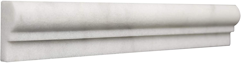 White Marble Ogee 2x12 Box of 15 PCS (Premium)