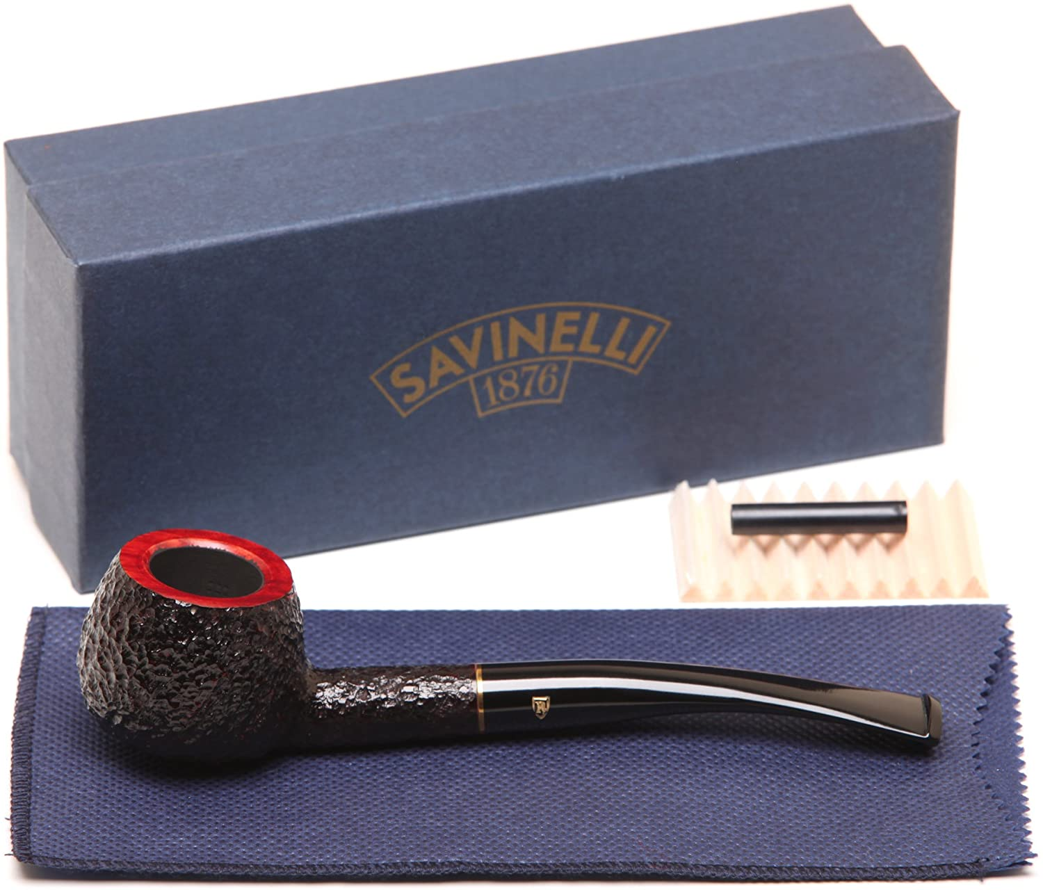 Savinelli Roma 313 Black Stem Tobacco Pipe