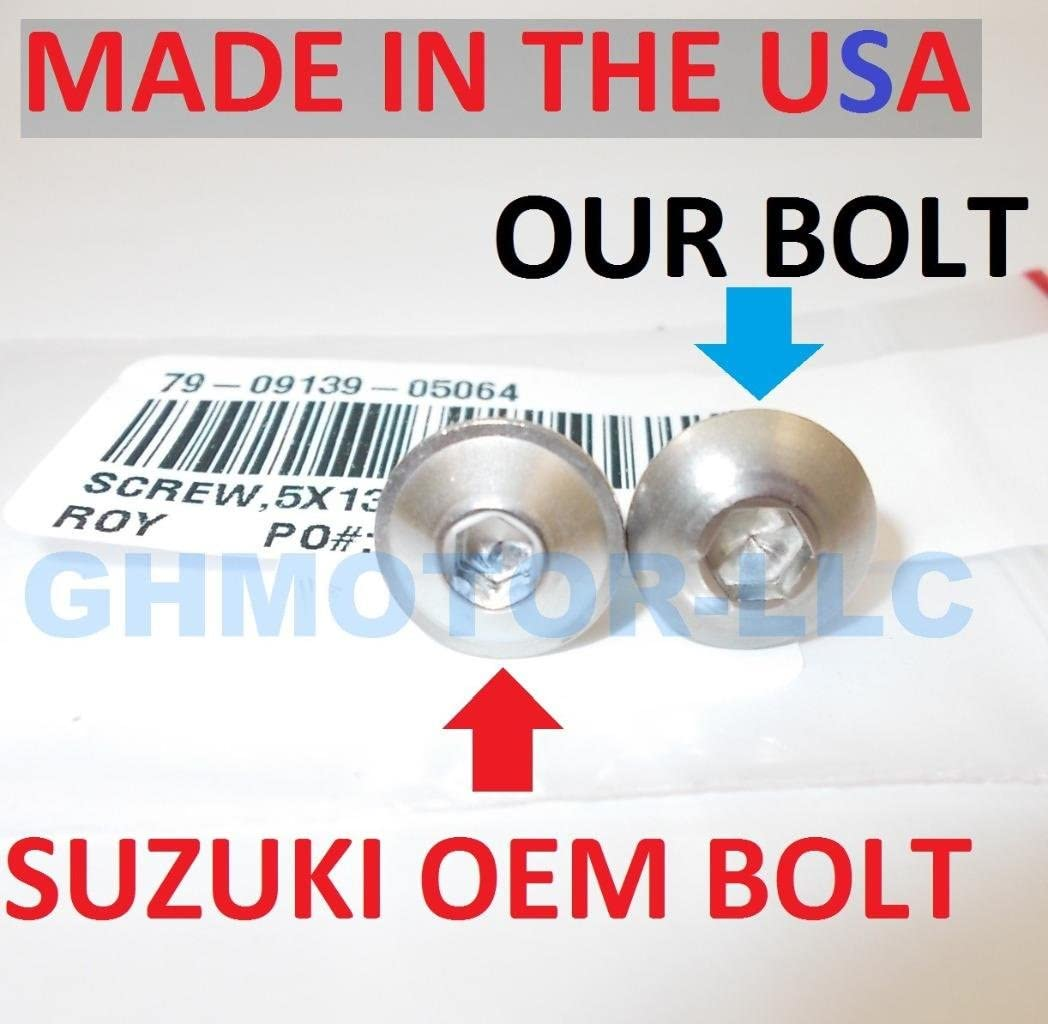 GHMotor 2003 2004 2005 2006 2007 SUZUKI HAYABUSA GSX1300R BOLTS and WASHERS OEM Style Fairing Bolts Fasteners Screws Kit Set MADE IN USA Silver