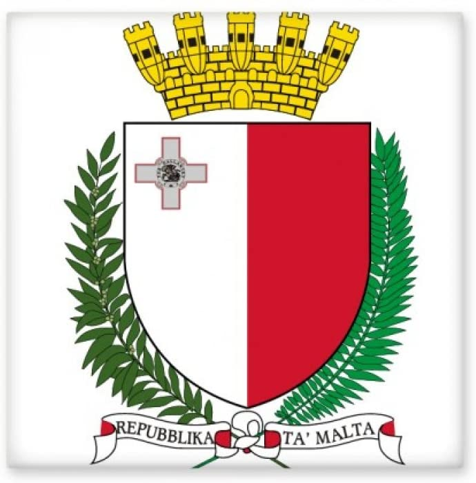 Malta Europe National Emblem Ceramic Tile Glossy Decal Glazed Brick Adorn Stone