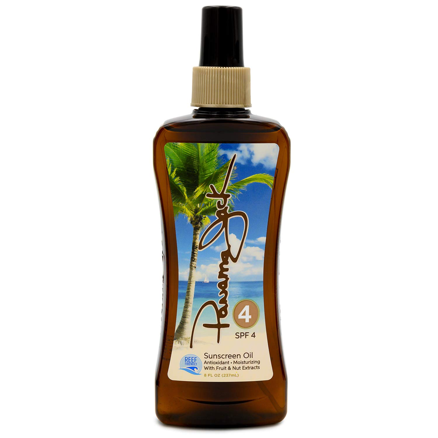 Panama Jack Sunscreen Tanning Oil - SPF 4, Reef Friendly, PABA, Paraben, Gluten & Cruelty Free, Antioxidant Formula with Exotic Oils and Fruit & Nut Extracts, 8 FL OZ (Pack of 2)