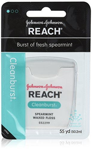 REACH Cleanburst Waxed Dental Floss, Spearmint 55 Yards by Reach