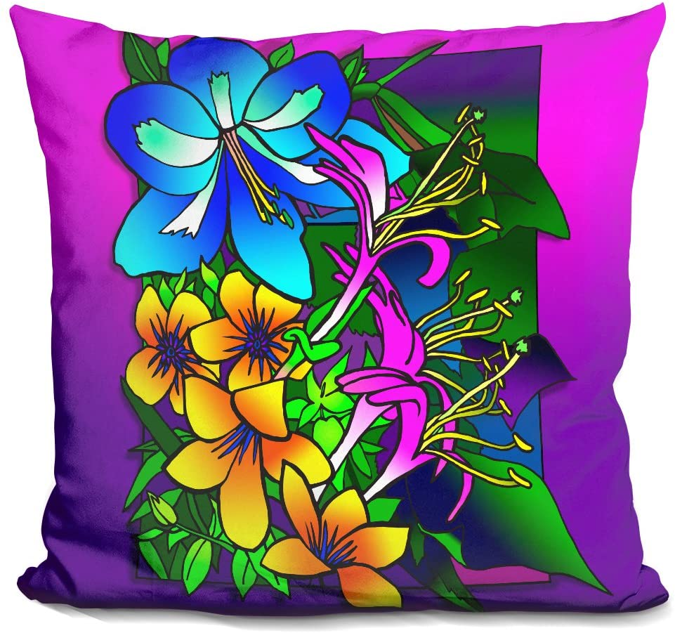 LiLiPi Kvilleflowers 8 Decorative Accent Throw Pillow