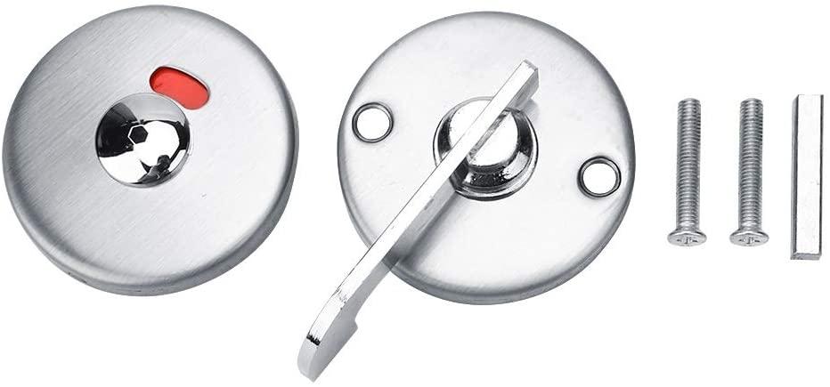 Indicating Lock - 1 Set Privacy Dead Bolt Latch Indicating Door Lock for Bathroom WC Public Restroom Toilet