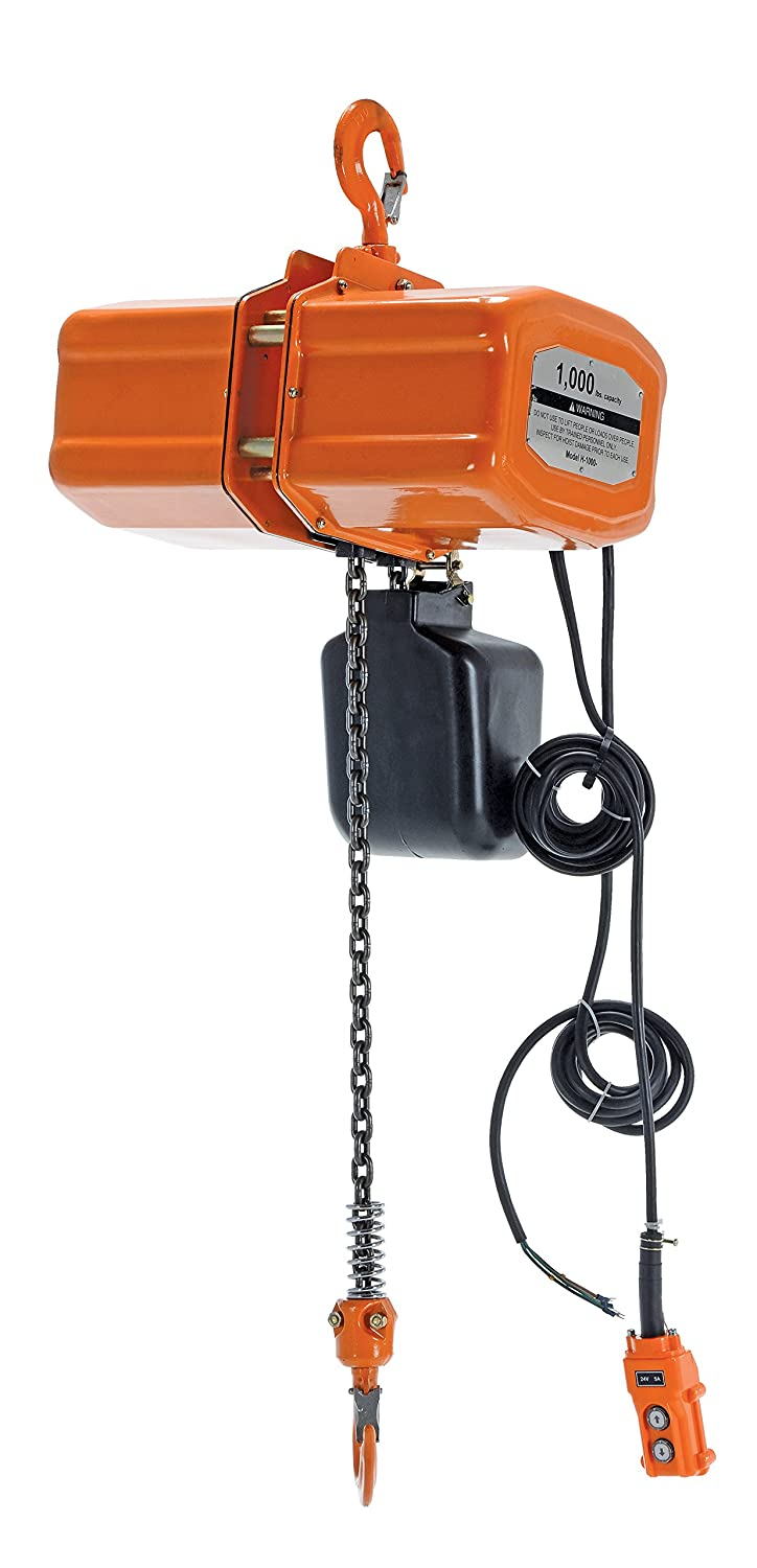 Vestil Economy Chain Hoist with Chain Container - 1,000-Lb. Capacity, 15Ft. Lift, Model Number H-1000-1
