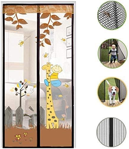JN Anti-Mosquito Door Screen/Summer Anti Mosquito Hook & Loop Magnet Mosquito Curtain, Punch Free Magnetic Screen Door Removable/Electromagnetic Shielding Door (Size : 95x220cm)