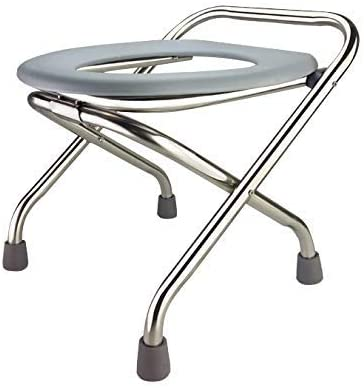 YXMxxm Folding Commode,Portable Toilet,Bedside Commode Chair - Comfort Chair Perfect for Camping,Trips and More,33cm