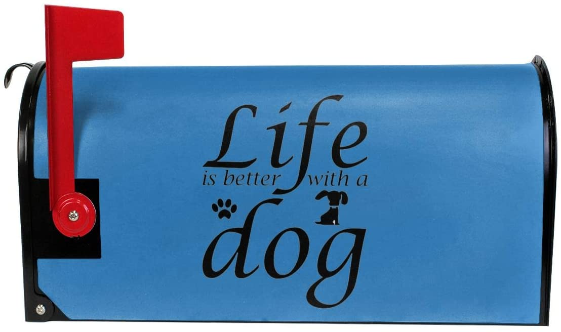 KLQ Life is Better with A Dog. Mailbox Cover Mailbox Wraps Post Letter Box Cover
