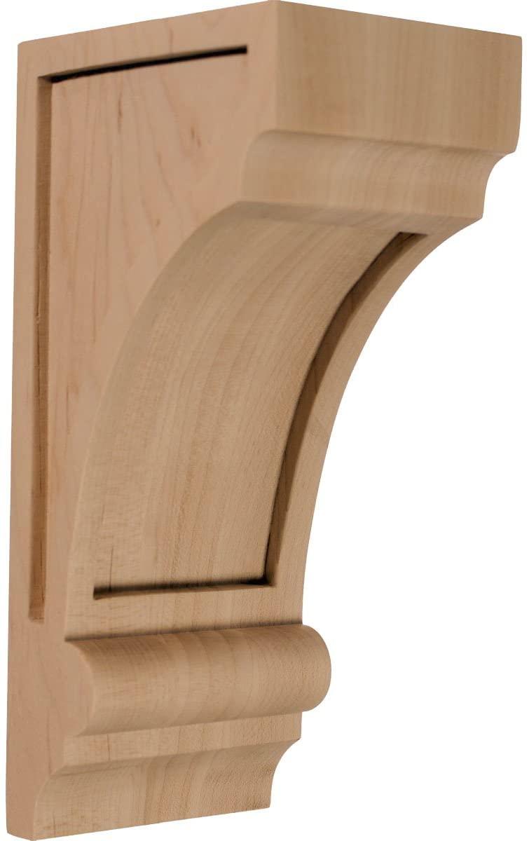 Ekena Millwork CORW03X04X08DIMA 3 1/4-Inch W x 4-Inch D x 8-Inch H Diane Recessed Wood Corbel, Maple
