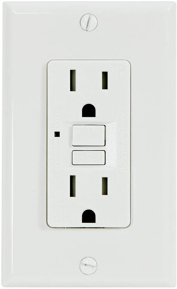 Universal Security Instruments G1315TRWH-MR GFCI outlet, White