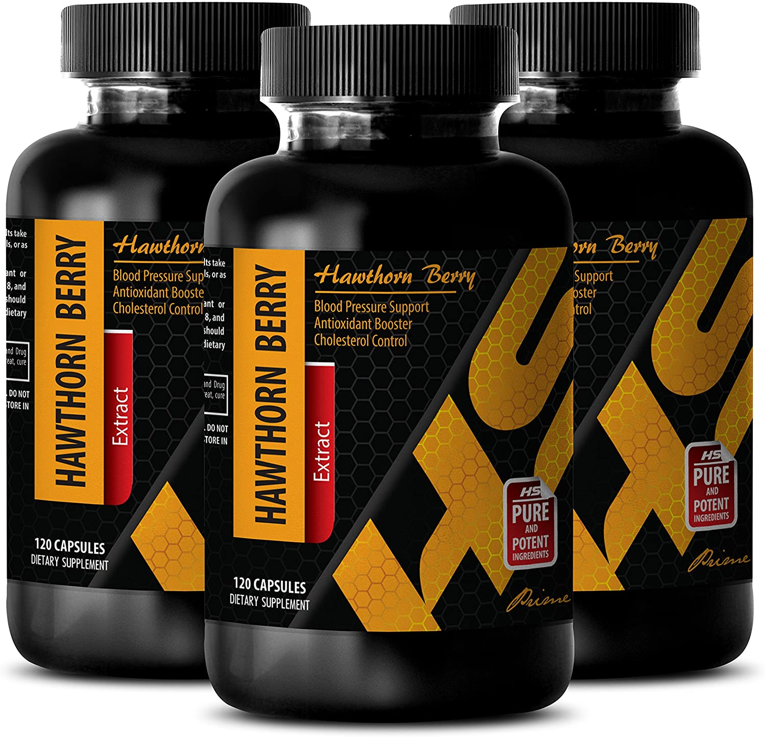 Advanced Cardiovascular Life Support - Hawthorn Berry Extract 665 Mg - Dietary Supplements - Hawthorn Vitamin - 3 Bottles (360 Capsules)