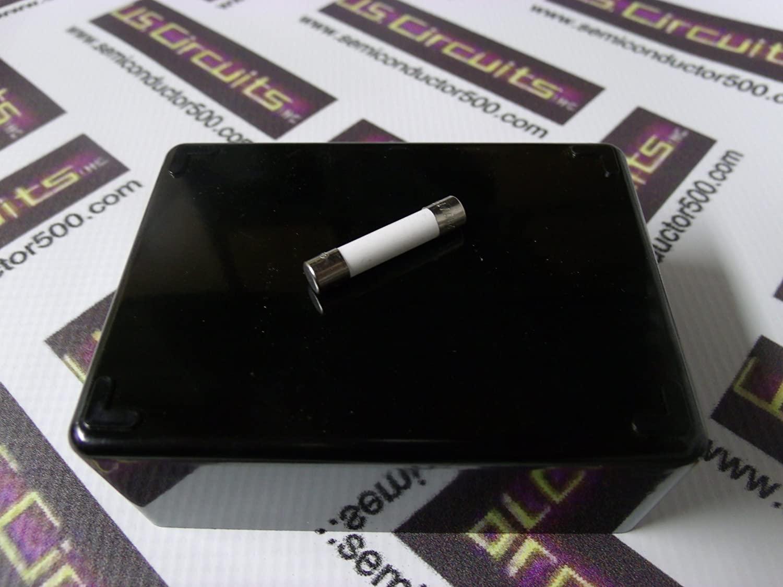 FUSE-MINIATURE 3AB EQUIVALENT 6 X 30MM CERAMIC 1A 125V/250V SLOW BLOW 5/PKG CLAMSHELL