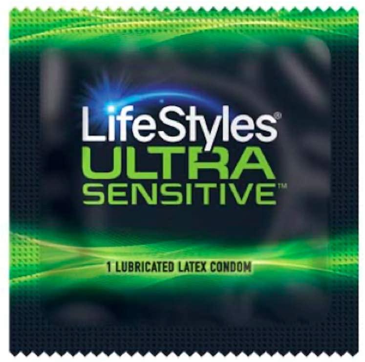 Lifestyles Ultra Sensitive Condom - Lubricated Latex Condom- (Pack of 100)